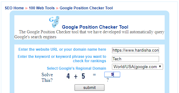 Google Rank Checker Image